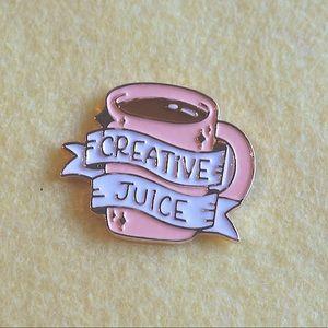 Creative Juice mug Enamel Pin